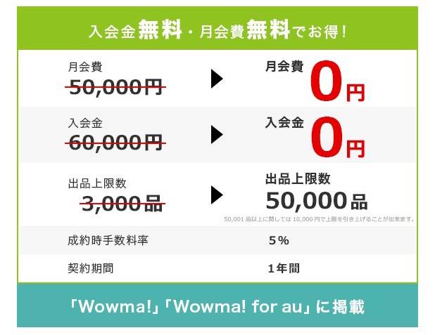 Wowma! [ワウマ]の料金体制