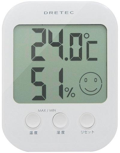 ドリテック(dretec) デジタル温湿度計 「オプシス」 ホワイト O-230WT¥982