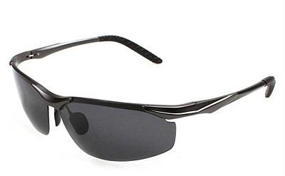 Sta.ANA(サンタ・アナ)メンズ 大きいサイズ 超軽量 偏光レンズ アウトドアサングラス スポーツ 紫外線カット UV400 (黒・ブラック)¥3,680